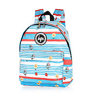 Blue Hype stripe floral backpack