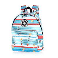 Blue Hype stripe floral backpack