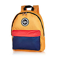 Yellow Hype block colour backpack