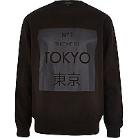 Black Tokyo print sweatshirt
