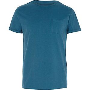 Green pocket crew neck t-shirt