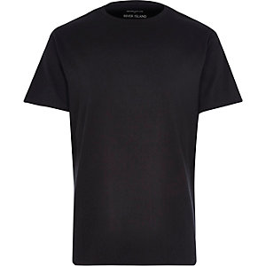 Black premium crew neck t-shirt