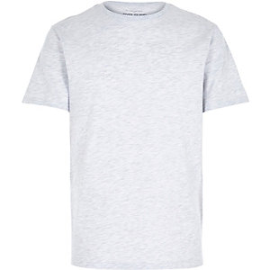 Grey premium crew neck t-shirt