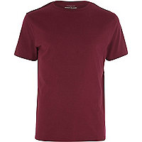 Red marl premium crew neck t-shirt