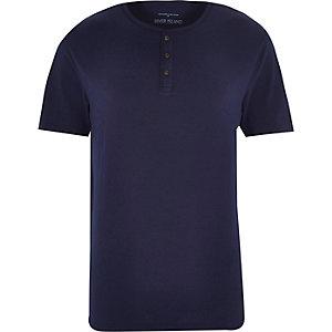 Navy grandad t-shirt