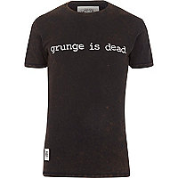 Black Worn By grunge print t-shirt