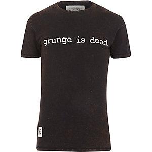 Black Worn By grunge print t-shirt