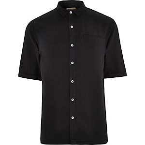 Navy Holloway Road washed shirt