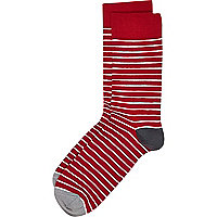 Red and white stripe socks