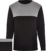 Black ripple contrast panel jumper