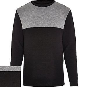 Black ripple contrast panel jumper