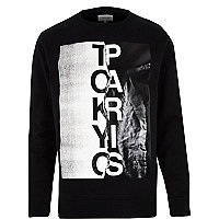 Black Tokyo Paris print sweatshirt