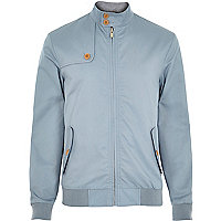 Light blue casual harrington jacket