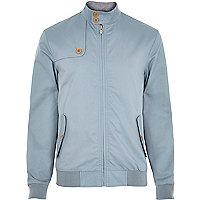 Light blue casual harrington jacket