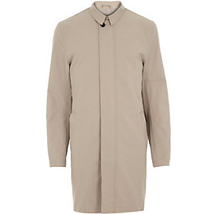 Stone smart trench coat