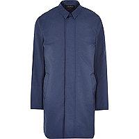 Dark blue smart trench coat