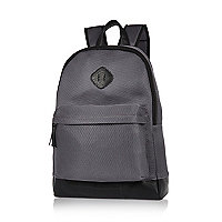 Grey mesh backpack