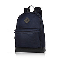 Navy mesh backpack