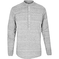 Grey overhead long sleeve shirt