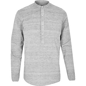 Grey over head long sleeve shirt