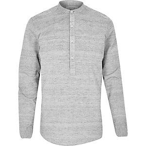 Grey over head long sleeve shirt