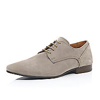 Beige nubuck formal shoes
