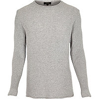 Light grey textured jumper