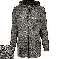 Grey longer length mesh hoodie