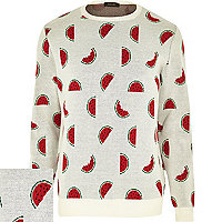 White melons print jumper