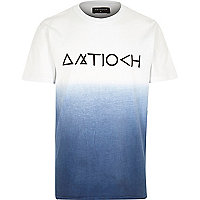 Navy Antioch dip dye short sleeve t-shirt