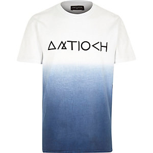 Navy Antioch dip dye short sleeve t-shirt