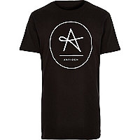 Black Antioch circle logo t-shirt