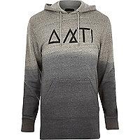 Grey gradient Antioch symbols hoodie