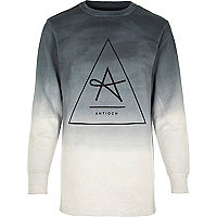 Grey Antioch dip dye longer length sweatshirt
