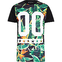 Black Hack tropical print t-shirt