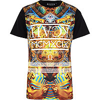 Black Hack pharaoh print t-shirt