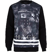 Black Hack smoke print sweatshirt