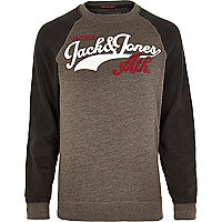Grey Jack & Jones Vintage athletic sweatshirt