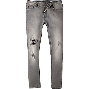 Grey ripped Danny superskinny jeans