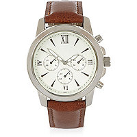Light brown Roman numeral watch