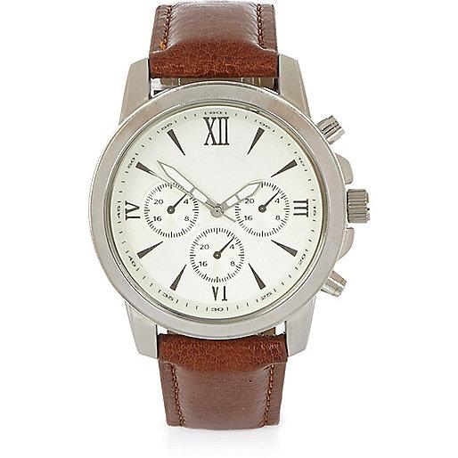 Light brown Roman numeral watch