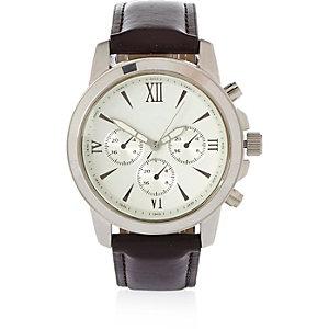 Dark brown Roman numeral watch