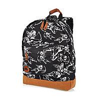 Black Mipac cherub print backpack