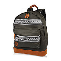 Brown Mipac Nordic print backpack