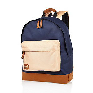 Navy Mipac colour block backpack