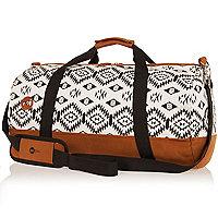 White Mipac tribal print duffel bag