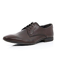 Dark brown leather lace up formal shoes