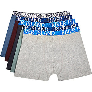 Mixed Hawaiian print boxer shorts pack