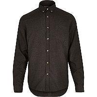 Black long sleeve flannel shirt