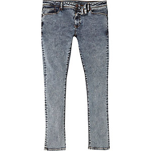 Grey acid wash Danny superskinny jeans